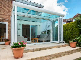 Glass roof extension exterior
