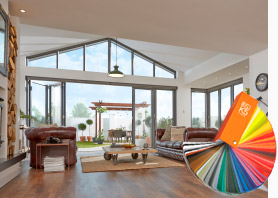 Bifolding Doors Interior with Colour Book