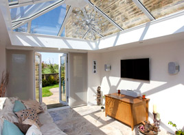 Orangery with TV entertainment system